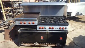 Wolf Stove 6 Burners Grill Broiler Double Oven