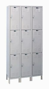 Hallowell Valuemax 3 Tier 3 Wide Employee Locker