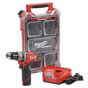Milwaukee M12 Fuel 12 volt Cordless Brushless 1 2 In Hammer Drill Kit With