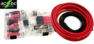 2 Gauge Top Post Relocation Diy Soldering Battery Cable Kit 16 Red 4 Black
