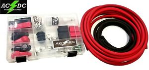 2 Gauge Top Post Relocation Diy Soldering Battery Cable Kit 15 Red 3 Black