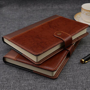 Idny Refillable Pvc Leather Writing Notebook Journal W Button Pen Holder