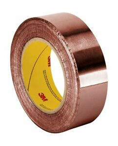 3m 1126 Copper Foil Tape With Acrylic Adhesive 1 5 X 36 Yd