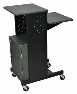 Luxor Presentation Station Av Cart With Cabinet