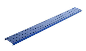 Alligator Board Powder Coated Metal Pegboard Strips With Flange In Blue