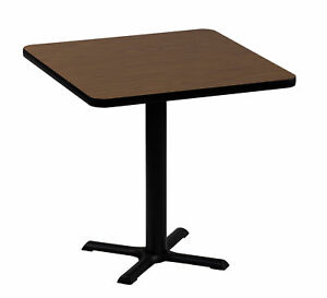 Correll Inc High Square Bar And Caf Table 30 Square Black Granite