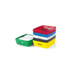Charnstrom Corrugated Plastic Tray Red Set Of 10