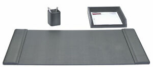 Dacasso 3 Piece Desk Set Black