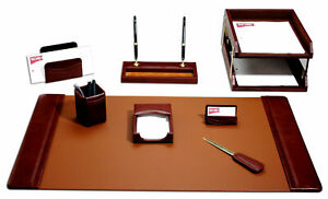 Dacasso 10 Piece Desk Set Mocha