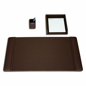 Dacasso 3 Piece Desk Set Chocolate Brown