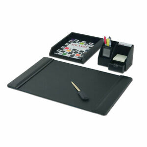 Dacasso 4 Piece Desk Set Black