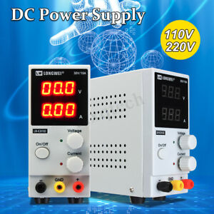 0 30v 0 10a 110v 220v Lcd Dc Power Supply Adjustable Precision Variable Digital