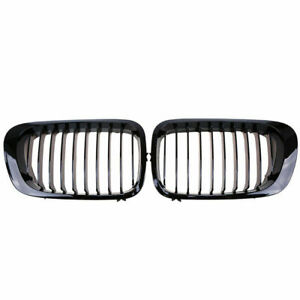 Front Gloss Black M Style Kidney Grille Grill For Bmw 3 Series E46 M3 1998 02