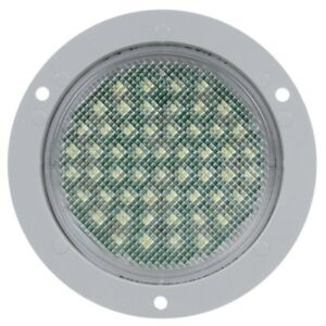 Truck lite 44237c 44 Series Led 54 Diode Round Clear Dome Light Gray Flan