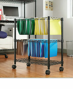 Alera 29 5 2 tier Rolling File Cart