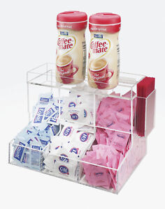 Cal mil Classic 3 Section Coffee Condiment Organizer