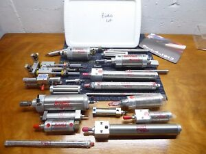 Bimba Lot Of 22 Cylinders Many New All Working Great Lot