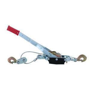 4 ton Come along Cable Puller Hand Winch With Single Or Double Hook Assembly