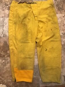 Transcon Firefighter Brush Wildland Pants Yellow Size Xl