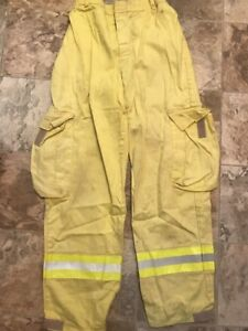 Firefighter Brush Wildland Pants Yellow Size Large