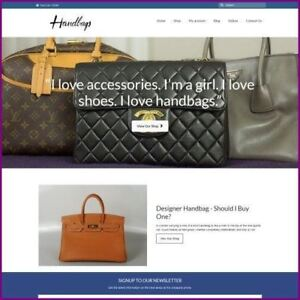 Designer Handbag Shop Home Based Make Money Website Business For Sale