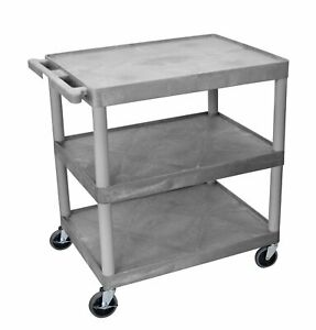 Offex Adjustable Height Metal Av Cart Blue