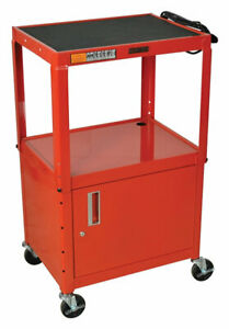 Offex Av Cart Red