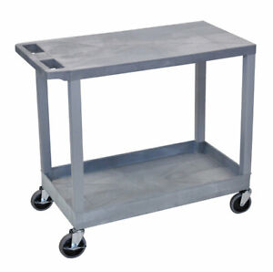 Offex Adjustable Height Av Cart Black
