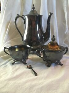 Vintage International Silver Company Silver Plated Tea Set With
