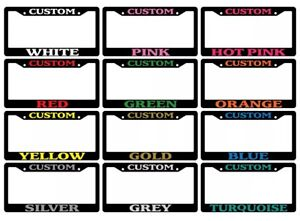 Black License Plate Frame Custom Personalize Choose Your Color Custom Text