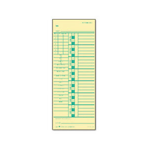 Tops Business Forms Time Card For Acroprint And Simplex