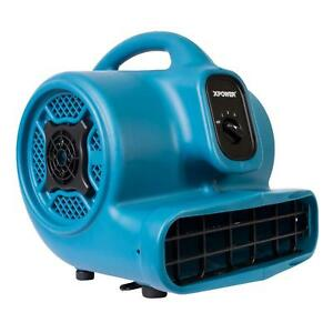 Blue Air Mover Blower Fan 1 4 Hp 1600 Cfm 3 Speed 20 Ft Power Cord Standalone