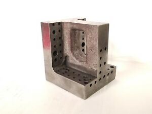 4 1 2 4 Cast Iron Steel Right Angle Plate Machinist Block