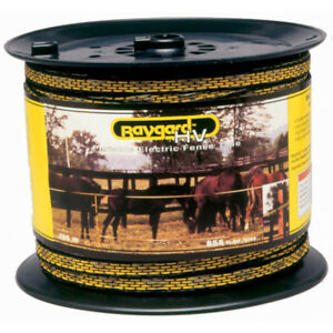 Baygard 00129 656 Feet Yellow Black High Visibility Electric Fence Tape