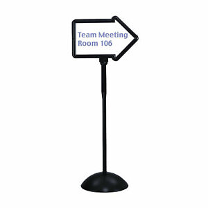 Safco Products Company Dry Erase Magnetic Plastic Double sided Arrow Sign