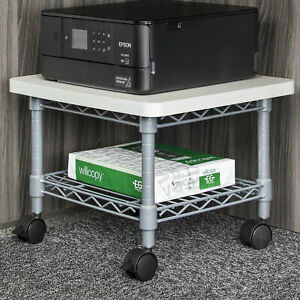 Safco Products Company Mobile Printer Stand Metallic Gray