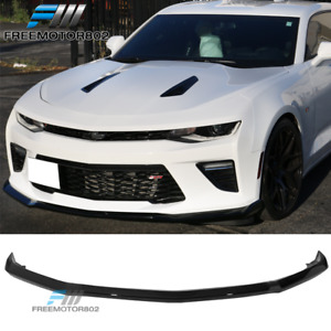 Fits 16 18 Camaro Ss V8 Oe Front Bumper Lip Spoiler Painted Glossy Black Wa8555