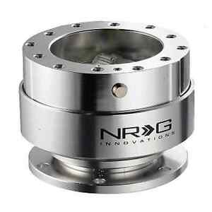 Nrg Steering Wheel Quick Release Kit Gen 1 5 Silver Body Silver Ring