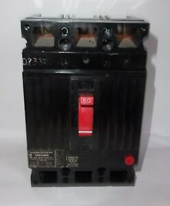 Ge General Electric Thed136050 3 Pole 50 Amp Circuit Breaker Lightly Used