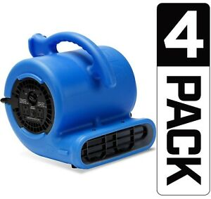 4 Pack B air Vp 25 Air Mover Floor Blower Dryer Water Damage Restoration refurb