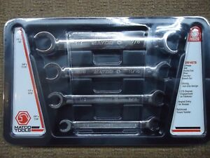 Matco Srf46tb 4 piece Sae Double End Offset Flare Nut Wrench Set Great Shape