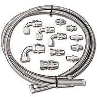 Power Steering Hose Kit Braided Lines With Fittings For Gm Ford Remote Pump