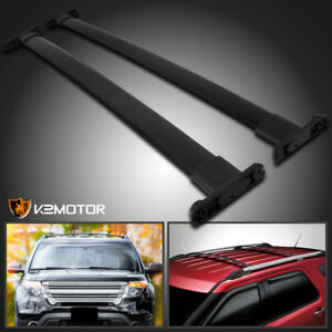 2011 2015 Ford Explorer Aluminum Black Car Roof Top Cross Bar Luggage Cargo Rack