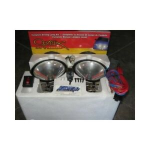 Hella Optilux 1900 Chrome Driving Lamp Fog Lights 100w 6 Kit Round H71020801