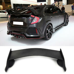 For 2016 2017 2018 Honda Civic Sedan Trunk Type R Jdm Ctr Style Abs Spoiler Wing