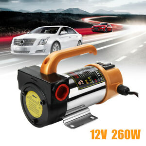 12v 260w Portable Electric Fuel Diesel Kerosene Pump Oil Transfer Pump 50l min
