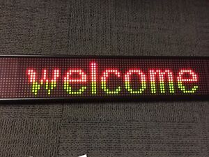 Color Led Message Scrolling Sign Programmable New 16x96 7 62 Mm Pixel Red Green