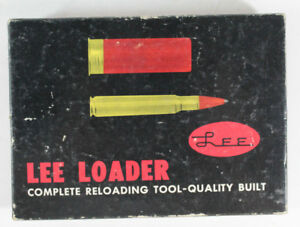 Lee Loader for Pistol Cartridges and Straight Sided Rifle Cartridges in Box