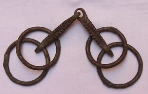 Indian Old Vintage Hand Crafted Iron Horse Bridle Bit Stirrups Br 508