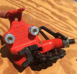 Ridgid 1 8 2 1 2 Bc 210 Top Screw Bench Chain Vise Tool Excellent Condition